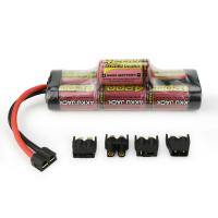 MELASTA 8.4v 4200mAh 7-Cell Hump NiMH Battery with Universal Plug System for RC Racing Car Manufactures
