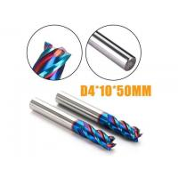 Helix Angle 45 Deg Solid Carbide Flat Indexable End Mill HRC65 4 Flutes Square End Mills Manufactures
