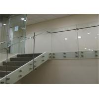 Interior Staircase Clear Frameless Glass Railing Low Maintenance Cost Modern Customized Manufactures