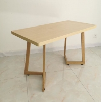 ODM Electrostatic Spray 750mm Wooden Square Dining Table Manufactures