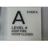 Square ADA Compliant Signs Interior Braille / Tactile Signage Long Lifespan Manufactures