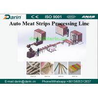 Cheap Darin Meat Strip Cutting Machine , Meat Strips Dog Treats Pet Food Processing Line for sale