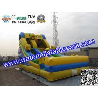 Kids Minions Inflatable Bouncy Slide / Inflatable Slide For Amusement Park Manufactures