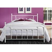 Cheap Decorative Full Size Metal Beds , Double White Full Storage Bed Frame Platform for sale