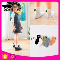 2017 Wholesale Reasonable Price 69%cotton 25%Polyester 6%Spandex Nice Small Sweet Colors Girls Winter Children Socks Manufactures