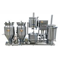 100L Home Microbrewery Equipment , Steam Heated Bar Brewhouse For Wort Processing Manufactures