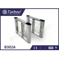 Safety Control Swing Gate Turnstile / Sliding Barrier Gates Acrylic Board Manufactures