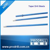 Tapered drill rod, taper rod, tapered drill steels from Prodrill Manufactures