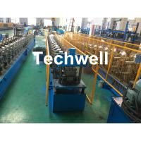 Forming Material PPGI , Aluminum Gutter Roll Forming Machine With Forming Speed 0-15m/min Manufactures