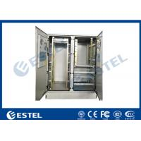 30U Two Bay Outdoor Telecom Cabinet, for Commmunication Equipment, Rectifier, Battery, with Aircon Cooling Manufactures
