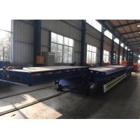 SINOTRUK Three Axle Semi Trailer Truck , Flatbed Semi Trailer Of Carbon Steel Manufactures