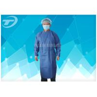China Water Resistant PP Disposable Scrub Suits / Isolation Gowns with knitted cuffs on sale