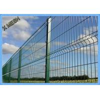 China Powder Coated Welded Curved Fence Panel Heavy Gauge Heat Treated on sale