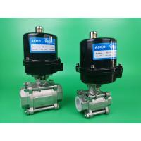 2 Way Electric Ball Valve With Air Operated Pneumatic Actuator Manufactures
