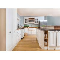 Contemporary L Shaped Kitchen Cabinets With Glass Door And Red Paint Island Manufactures