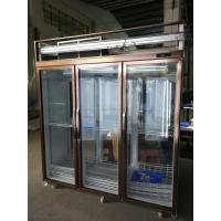Front and back open doors with 5 layers Upright Display Freezer / Water Drink Milk Tea Refrigerator Manufactures