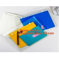 OEM Office stationery filing supplies plastic document pp envelope carrying file folder bag with button closure Manufactures
