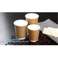 Custom LOGO printed disposable coffee paper cup,AMAZON hot selling heat insulation disposable double wall paper cup PACK Manufactures