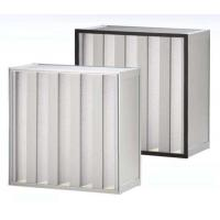 Clean Room SUS Frame Plastic V Cell Terminal HEPA Filter Easy To Handle Manufactures