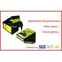 Swivel Two Layers Rigid Board Gift Packaging Boxes , Customized Packaging Boxes Manufactures