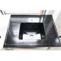 Black Color Epoxy Resin Sink With Drain Grooves Use For Science Lab Furniture Manufactures