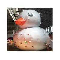 0.9 Mm Plato PVC Big Inflatable Water Toys / Floating Blow Up Duck For Pool Manufactures