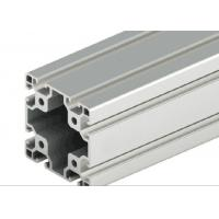 China Decorations Extruded T Slot , Silver Anodized T Slot Aluminium Extrusion on sale