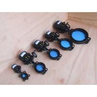 Wafer   Electric Butterfly Valve , DN50 DN65 DN80   Electrically Operated Butterfly Valve Manufactures