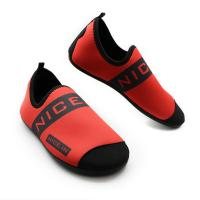 Red Neoprene Winter Fur Shoes Neoprene And Faux Fur Synthetic Upper Material Manufactures