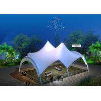 China Pagoda Shape Tensile Structure Fabric  For Swimming Pool Steel Structure on sale