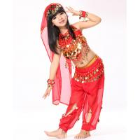 Indian Style Baby Belly Dance Practice Costumes With Shinning Dots Fabric Manufactures