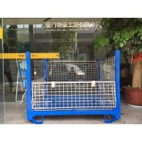 Lockable  Collapsible Wire Container Customized Size And Colors Manufactures