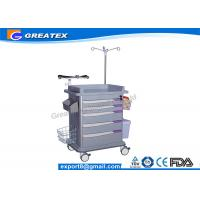 ISO Quality 5 Drawers Emergency Medical Trolley crash cart utility trolley Manufactures