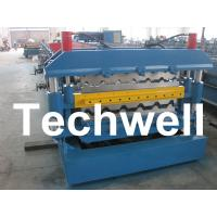 0 - 15m/min Forming Speed, PLC Control Dual Level Roll Former For Two Roofing Profiles Manufactures