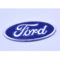 China Oval Custom Auto Badges Emblems / Car Company Badges Engraved Metal Signs on sale
