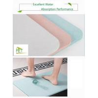 China diatomaceous earth bath mat  highly absorbent anti-slip diatomite mat eco-friendly durable on sale