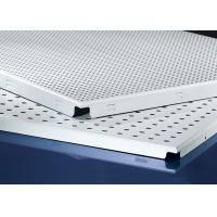 China Clip In  Aluminum Metal Ceiling 600x600MM , Perforated Aluminum Ceiling Panels on sale