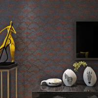 Buy cheap Yellow Modern Removable Wallpaper / Contemporary Floral Wallpaper For Bedrooms from wholesalers