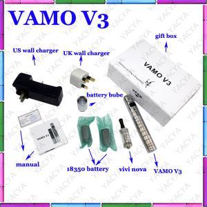 Vamo V3 Variable Voltage E Cigarette With 510 Screw Thread Atomizer Manufactures