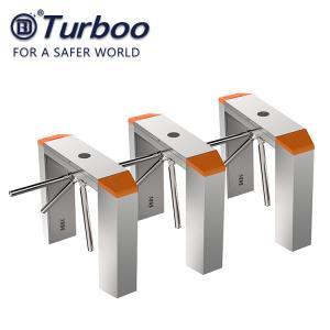 Quality RFID Recognition Tripod Turnstile Gate , 100-240V Tripod Barrier Gate 304 SUS for sale