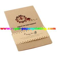 customize die cutting and colorful printed paper cards/greeting cards
