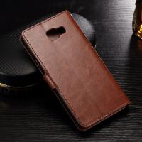 Folio Style Samsung Leather Wallet Case For Galaxy A3 Crazy Horse Handmade