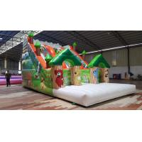 Quality Forest Theme Inflatable Dry Slide Green Tree Kids Playground For Commercial for sale