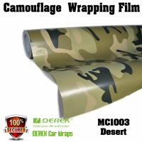 Camouflage Automotive Vinyl Wrapping Film bubble free 1.52*30m/roll - Desert Manufactures