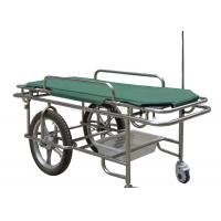 Height Fixed Ambulance Stretcher Trolley 180kg Load Capacity Two Large Wheels Manufactures