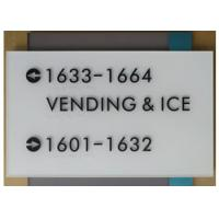 "ADA Wayfinding Signage 1/4"" Acrylic Front / Back Panel 14.5"" By 18"" Size Grade II Manufactures"