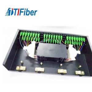 "SC Rack Mount Splicing Fiber Optic Terminal Box FTTH 48 Core 19"" Standard Installation Manufactures"