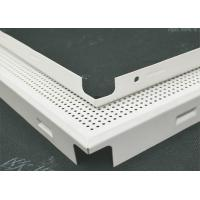 Quality sound proofing decorative Acoustic Ceiling Tiles Perforated Fireproof With roll coating for sale