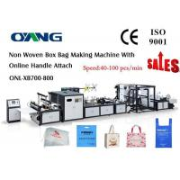 Cheap High Speed Ultrasonic Sealing Non Woven Bag Making Machine Approved CE for sale