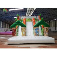 Forest Theme Inflatable Dry Slide Green Tree Kids Playground For Commercial Rental Manufactures